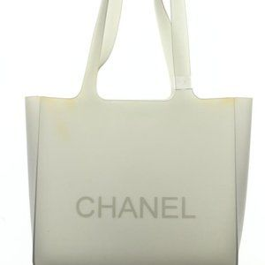 Chanel Clear Rubber Translucent Grey Jelly Tote